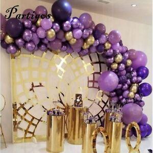 Kit Fête Anniversaire Mariage Décoration Mauve Or Arche Guirlande Ballons