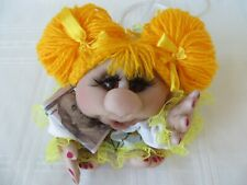 "Handmade Doll Cloth/pantyhose ""POPIK"" soft sculpture doll"