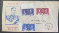 1937 Edinboro St Vincent First Day Cover King George VI Coronation