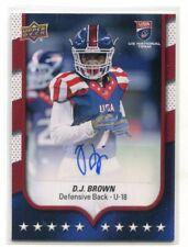 D.J. DJ BROWN 2016 Upper Deck UD USA Football AUTO #100 Penn State CB