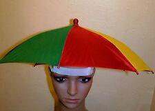 Nylon Rainbow Foldable Umbrella  Sun Hat, Fishing ,Gardening, Beach, Etc.