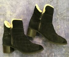 Chanel Black Shearling Boots 42