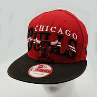Chicago Bulls New Era Snapback Hat Cap 9Fifty Black Red NBA Hardwood Classic