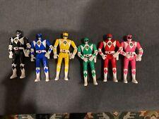 "1993 Mighty Morphin Power Rangers figures 5.5"" Flip Head Bandai Lot 6 light use"