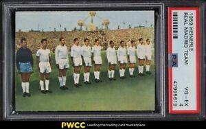 1959 Heinerle Real Madrid w/ Alfredo Di Stefano Ferenc Puskas Kopa Gento PSA 4