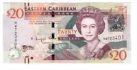 EASTERN EAST CARIBBEAN $20 Dollars UNC Banknote (2015 ND) P-53b Prefix NW