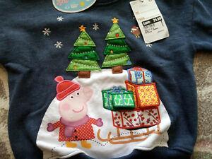 NEW Baby girl or boy NEXT 9-12-18 months Peppa sweatshirt