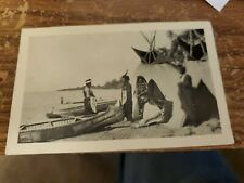 Vtg Postcard Indian Summer Camp Reed