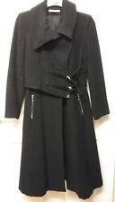 Full length Ladies coat, wool ,polyamide,cachemire, made in France,SIZE MEDIUM