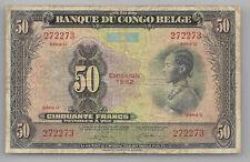 Belgian Congo  50 francs 1952