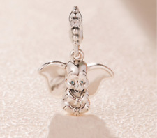 Genuine sterling silver Disney Dumbo Pendant Charm good with Pandora bracelets