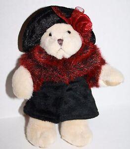 "Russ Berrie Plush Stuffed Soft Toy OKSANA TEDDY BEAR 7"" Coat Rose Hat Scarf 4500"