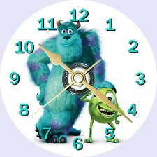Monsters Inc Sulley and Mike Novelty Cd Clock Can Personalised
