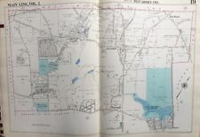 1950 MAIN LINE, CHESTER CO. PA, W.GOSHEN TWP WEST CHESTER AIRPORT COPY ATLAS MAP
