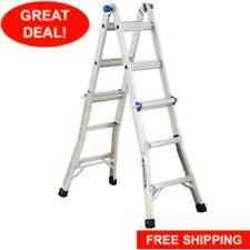 Multi Position Ladder Extension Reach Aluminum Telescoping Adjustable Werner