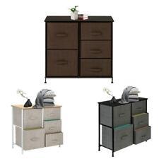 5-Drawer Bamboo Shelf Dre 00006000 sser Sliding Cloth Fabric Storage Bins Chest Drawers