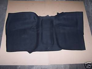 FORD PICK UP TRUCK 1965-72 4WD or Floor Shift BLACK FRONT RUBBER MAT