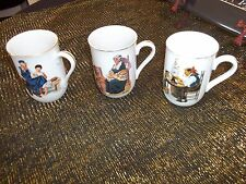 Norman Rockwell Collectors Mugs