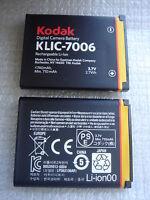 Batterie D'ORIGINE KODAK KLIC-7006 PENTAX BLi-272 DS5370 DS-5370 Optio D-LI108