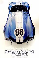 Shelby 427 no. 98 Cobra Cincinnati Ault Park 2005 Concours poster - Carroll SAAC