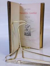 RELIURE PLEIN MAROQUIN BLEU  Théophile Gautier  Poésies, etc  Lemerre  1890