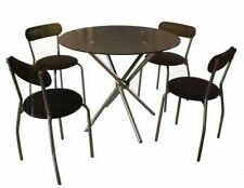 Unbranded Glass Piece Table & Chair Sets 5