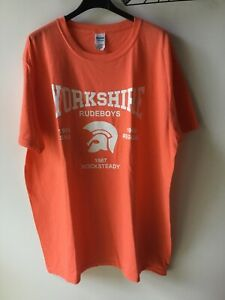 Yorkshire Rude boys, Ska T-shirt, Large, Orange