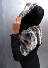 Unique Schwarz Neu 2017 Warm Sexy Damen Fur Pelz Jacke Mantel M57 Blazer Coat XL