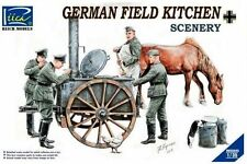 Riich modelos de 1/35 soldados alemanes de cocina con campo # 35045