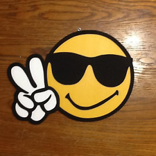 SMILLY FACE PEACE SIGN - 3D WOOD ART
