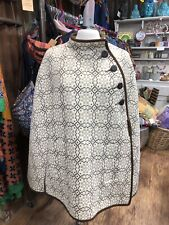 Real Welsh Tapestry Eclipse Tailored Cape Coat 100% Pure New Wool