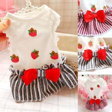 Pet Dog Puppy Cat Coral Velvet Clothes Princess Skirt Dress Skirt Apparel Cute