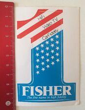 ADESIVI/Sticker: Fisher-The fine nome in alta fedeltà (080316107)