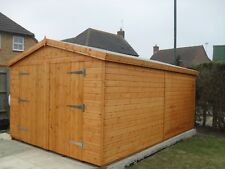 "Garden Shed security Garage 16X10 7ft D/D 3""X2""frame 1""thick floor free erect"
