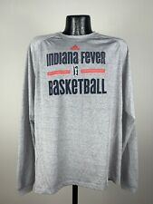 Men's Adidas To Go Tee Indiana Fever WNBA Gray LS Graphic Logo Basketball NWOT M