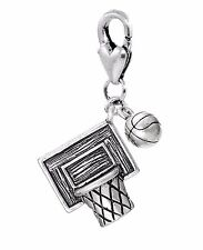 Basketball Net Ball Team Sports NBA Lobster Claw Clip Dangle Charm for Bracelets