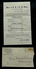 1870 Flyer/Envelope AB & LH GIBBS Commission Merchants FLOUR PRICE LIST Troy NY