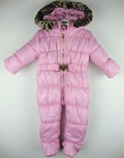 JUICY COUTURE Skioverall Schneeanzug Overall Mädchen Kapuze Pink Gr.62-68 NEU