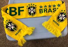 "CBF BRAZIL BRASIL Team Scarf Football Futbol Soccer 56"" Long"