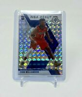 2019-20 Panini Mosaic Zion Williamson NBA Debut Silver Wave Rookie RC Pelicans