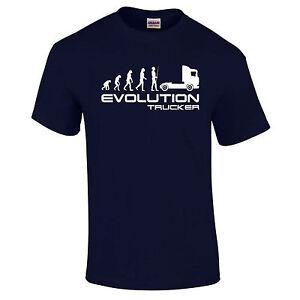 Evolution Trucker Lorry Hgv Fahrer Scania V8 Magnum Geschenk T-Shirt S - 5XL