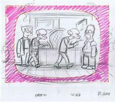 Simpsons Homer Burns Original Art Animation Production Pencils Habf10 Sc169 Comp