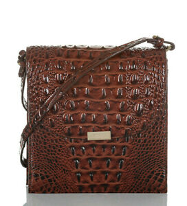 NWT Brahmin Kimmie Pecan Melbourne Croc Embossed Leather Crossbody PERFECT SALE!