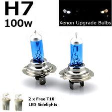 H7 100w Super Blanco Xenón (499) 12v húmedas cabeza luz bombillas + 501 Led sidelights