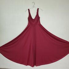 "New listing OlgaBodysilk Nightgown # 9295 Full Sweep 200"" Skirt Rare Red Burgundy Sz Large"