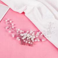 Wedding Hair Comb Bride Crystal Rhinestone Pearl Women Hairpin Bridal Headpiece