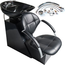 Backwash Shampoo Ceramic Bowl Sink Chair Unit Station Beauty Spa Salon Equipment