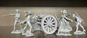 Toy soldiers American Revolution Molly Pitcher with a cannon 1:32