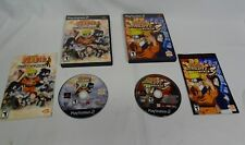 Sony Play Station 2 PS2 Naruto Ultimate Ninja Game 1, 3 Disc Lot Case Manuals ✔