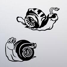 x2 Turbo Snail Funny Sticker Vinyl Decal Car Window Bumper JDM Tuning Dub Racing